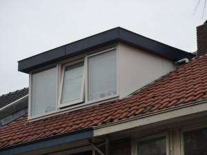 Vernieuwde dakkapel met trespa